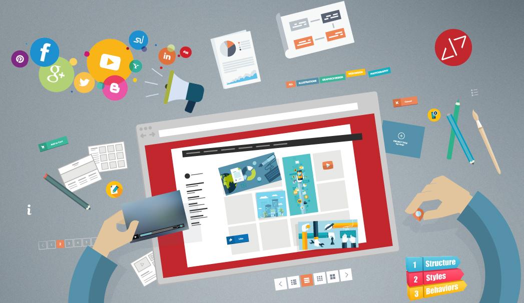 پنل طراحی سایت تجاری
